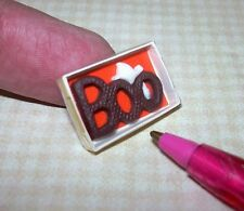 "Miniature Lola Originals Milk ""Chocolate"" Boo, Boxed Halloween: DOLLHOUSE 1:12"
