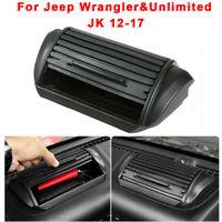 Black Dashboard Storage Box Accessories For Jeep Wrangler Unlimited JK 2012-2017