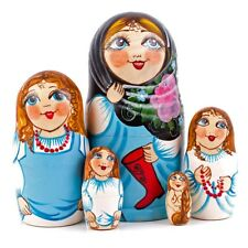 Striptease Nesting Doll Matryoshka Hand Painted Russia Stacking Doll Nude Naked