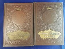 1968 National Geographic ALBRECHT Cover Plane Globe Leather Bound FULL YEAR
