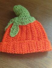 Baby 3-6 months Halloween Pumpkin Orange Fancy Dress Novelty Hat Knitted Crochet