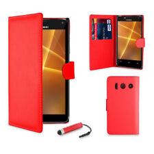 Fundas y carcasas color principal rojo de piel para teléfonos móviles y PDAs Huawei