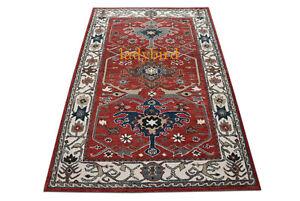 New Irani Design Red Heritage Oriental Handmade Parsian Wool Area RUG Carpet