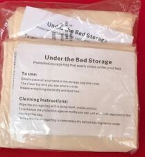 Clear UnderBed Storage Bag - 2 PACK - Durable Vinyl to Shield From Dust And Mold