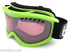 Bolle CARVE Ski Snowboarding Goggles Shiny Green / Vermillon Gun Mirror 21265