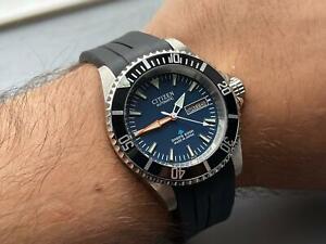 CITIZEN Divers GN-4-S BLUE DIAL WRIST Mens WATCH Automatic