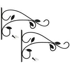 2x Wandhalterung für Blumenampeln, Windspiele, etc. im Blätterrankendesign