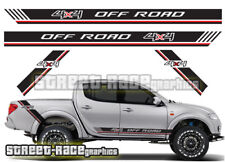 Mitsubishi L200 026 side racing stripe stickers decals graphics 4x4 offroad