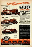 1956 Galion Iron Works Print Advertisement: Grade O Matic Motor Graders T-700 ++