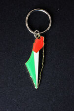 Palestine Map and Flag Key Ring