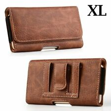 SAMSUNG GALAXY A20 A50 - Brown PU Leather Belt Clip Pouch Holster Carrying Case