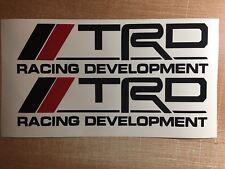 "TRD Racing Development (2 PACK) 9"" BLACK Emblem Vinyl Sticker  Decal VVTI Supra"