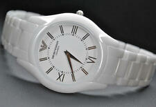 EMPORIO ARMANI MEN'S SLIM EDITION WHITE CERAMIC WATCH AR1442