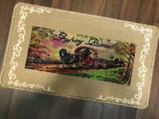 ROMANY WASHABLES SPARE DOORMATS NON SLIP 40X70CM WAGON&HORSE BEIGES GYPSY ROAD