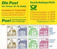 GERMANIA BERLINO 1980 LIBRETTO SERIE CASTELLI  MH 12  NUOVO COMPLETO  MNH ** (1)