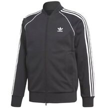 NEW MEN'S ADIDAS ORIGINALS SUPERSTAR TRACK JACKET ~SIZE LARGE   #CW1256 BLACK