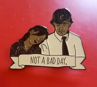 The Office Pin Jim And Pam Not A Bad Day TV Show Enamel Brooch Badge Lapel