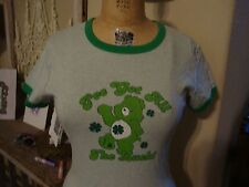 CARE BEARS I've got All The Lucky Ringer Lucky retro ladies fit T Shirt size XL