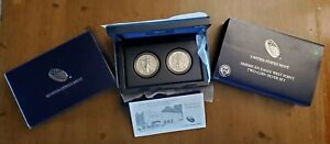 2013-W American Eagle West Point Two-Coin Silver Set | Box & COA OGP
