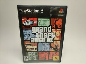 Grand Theft Auto III Playstation 2 PS2 Video Game Complete UNTESTED