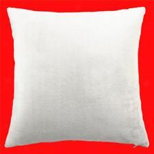 45cm Square Velvet Cushion Cover Home Decor Waist Throw Pillow Case White