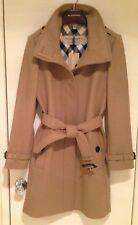 BURBERRY Womens GIBBSMOORE WOOL Blend Belted Trench Coat - CAMEL - SIZE 10 - NWT