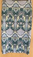 River Island Ladies Skirt 12 Pencil Skirt Bodycon Figure Hugging Scarf Print