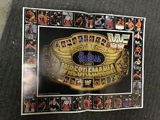 Wrestling Wrestlemania WF rare redemption poster 1987