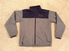Columbia Stretch Water Wind Resistant Softshell Jacket Mens Black/Gray Sz Large