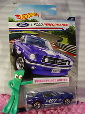 Ford Performance #2 '67 MUSTANG COUPE☆Blue/white;5s☆2016 Hot Wheels Walmart Excl