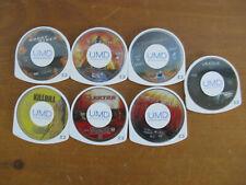 7 GHOST RIDER, STEALTH, FIFTH ELEMENT, KILLBILL, ELEKTRA, ETC. PSP MOVIES