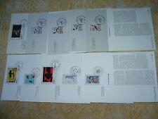 FRANCE Année 1992 ,1993, lot de 10 notices 1er jour de l'imprimerie de la poste