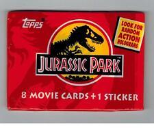 UNOPENED PACK JURASSIC PARK TRADING CARDS DINOSAUR HOLOGRAMS 1993 TOPPS SERIES 1