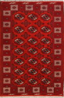 New Geometric Balouch Bokhara Afghan Oriental Hand-Knotted 5x8 Wool Area Rug