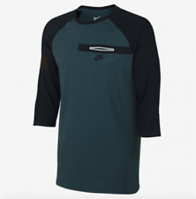 SZ S GENUINE!! Nike Bemis Pocket 3/4 Sleeve Men's T-Shirt Tee 805229-346