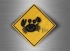 Autocollant sticker laptop macbook panneau route attention crabes crabe