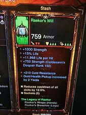 DIABLO 3 PRIMAL ANCIENT THE LEGACY OF RAEKOR BARBARIAN SET PATCH 2.6 XBOX ONE