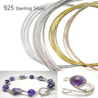 Nice 100cm 925 Sterling Silver Thread String Cord Wire DIY Jewelry Beading Craft