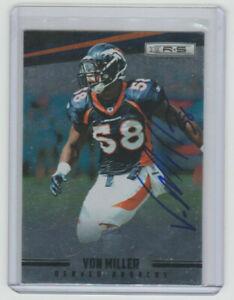 VON MILLER Broncos SIGNED 2012 Rookies & Stars Longevity Autograph ON CARD AUTO