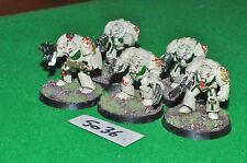 dark angel space marine deathwing terminator squad 5 (5036) painted metal warham