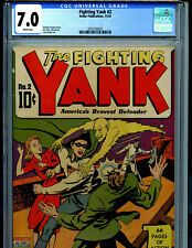 Fighting Yank #2 CGC 7.0 Golden Age1942 Nedor Publication 1942 Amricons B19