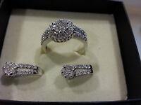 Zales 14k WHITE GOLD DIAMOND EARRINGS ONLY  0.5 cttw