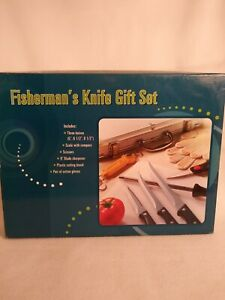Fisherman's Knife Set With Chrome Case