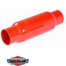 """Auspuffbirne Cherry Bomb 2"""" 50,8mm Kurz Durchgangsdämpfer Red Hot Auspuff Birne"""