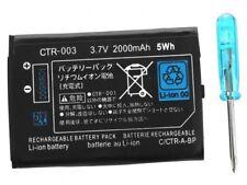 BATTERIE CONSOLE NINTENDO 2 DS- 3DS - 2DS XL-2000 mah 3,7 V + tournevis CTR-003