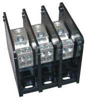 Mersen Mpdb63133 Pwr Dist Block, 175A, 3P, 4P Secndry, 600Vac, Depth: 2.81 In