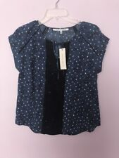 Collective Concepts Stitch Fix Blouse Top  Small Petite SP Over Sized Blue NWT