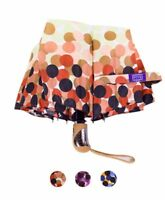 Dots on Dots Multi-colored Polka Dot Compact Umbrella with Carrying Case (UM3001