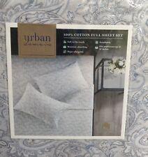 Urban domain 100% cotton full sheet set