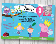 ABC Invitation Ben and Holly Peppa Hoot Birthday YOUPRINT Digital File ABC KIDS